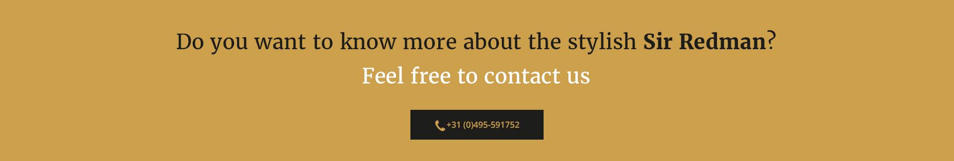 Sir Redman contact